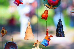 Clay toys at the fair
