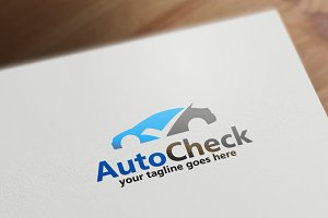 Auto Check Logo Template