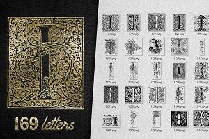 Vintage Letter I Vector And PNG