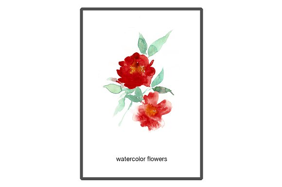 Tsubaki red flowers