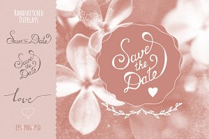 Handsketched Overlays- Save the Date