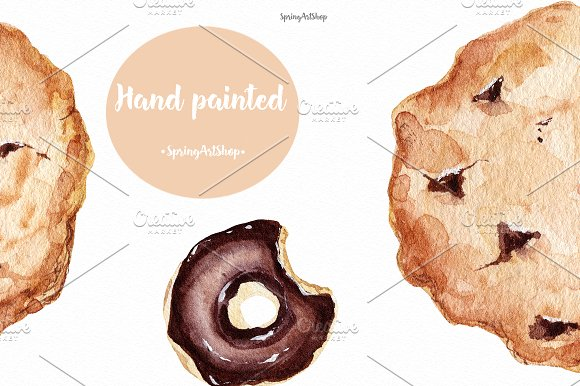 Chocolate & Biscuits clipart in Illustrations - product preview 3