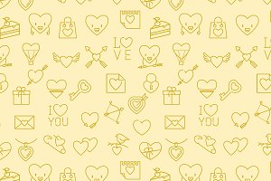 Valentines seamless patterns bundle
