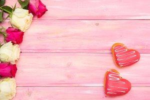 hearts donuts