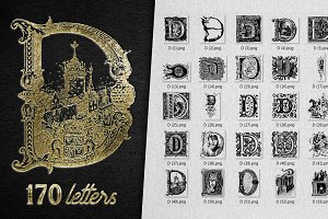 Vintage Letter D Vector And PNG