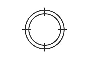 Aim linear icon
