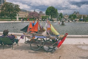 Sailboats in the Luxembourg Gardens