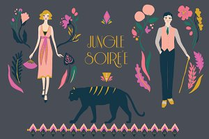 Jungle Party Fashion Clip Art Set