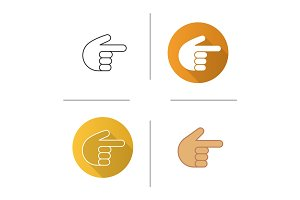 Point right hand gesture icon