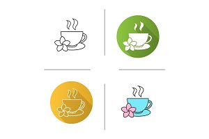 Herbal teacup icon