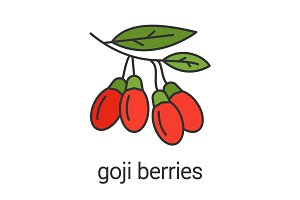 Goji berries color icon