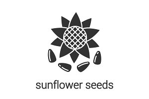 Sunflower seeds glyph icon