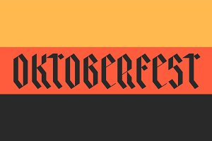 Flag of Germany with text Oktoberfest
