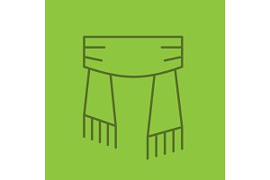 Scarf linear icon