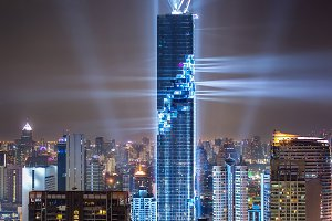 Rising of Mahanakhon tower