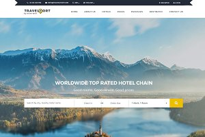 Travel & Hotel Responsive HTML