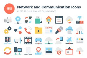 150 Network and Communication Icons