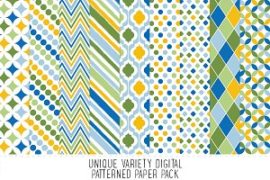 Boys Blue Pattern Paper Pack
