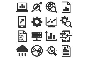 Big Data Analysis Icons Set