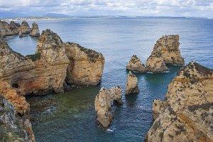 Beautiful Cliff in Algarve, Portugal