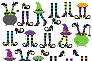 Witches Legs Clipart & Vectors