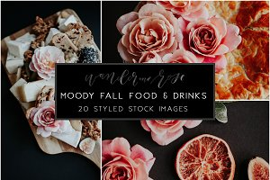 Moody Fall Food & Drink Styled Stock