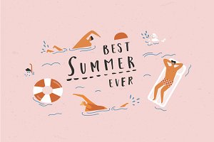 Best summer ever graphic set