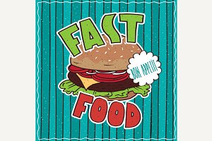 Food poster with Fast Food