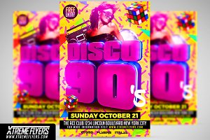 Disco 90s Flyer Template