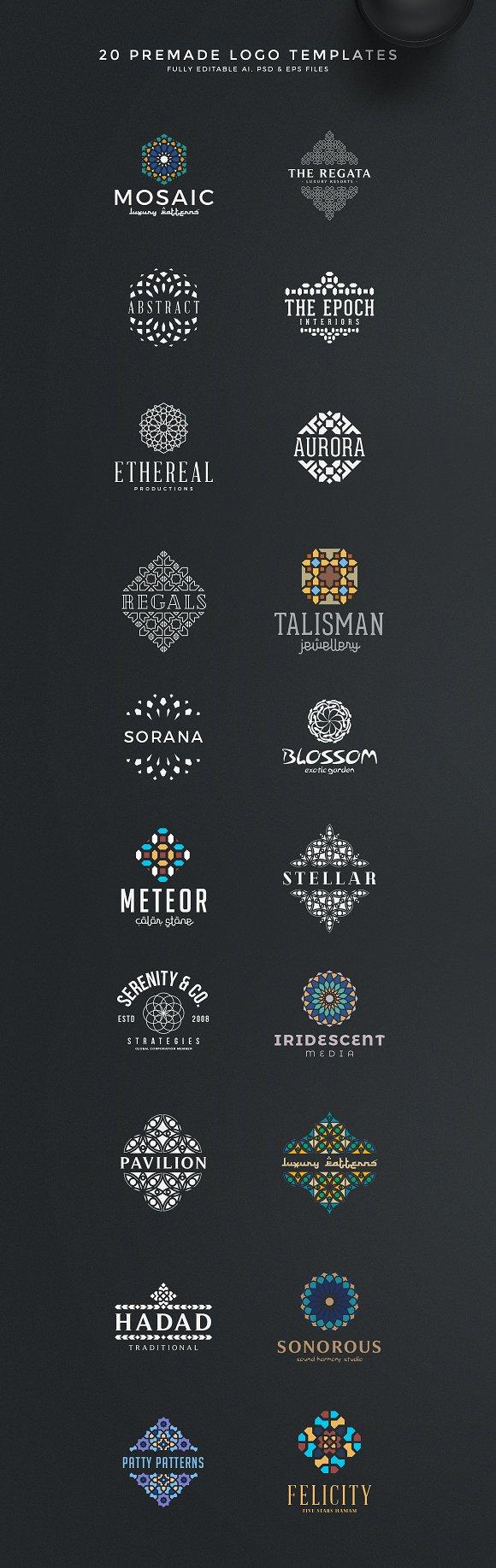 The Best Logo Creation Kit Bundle ~ Logo Templates ~ Creative Market