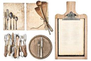 Kitchen Board, Aged Recipe Paper