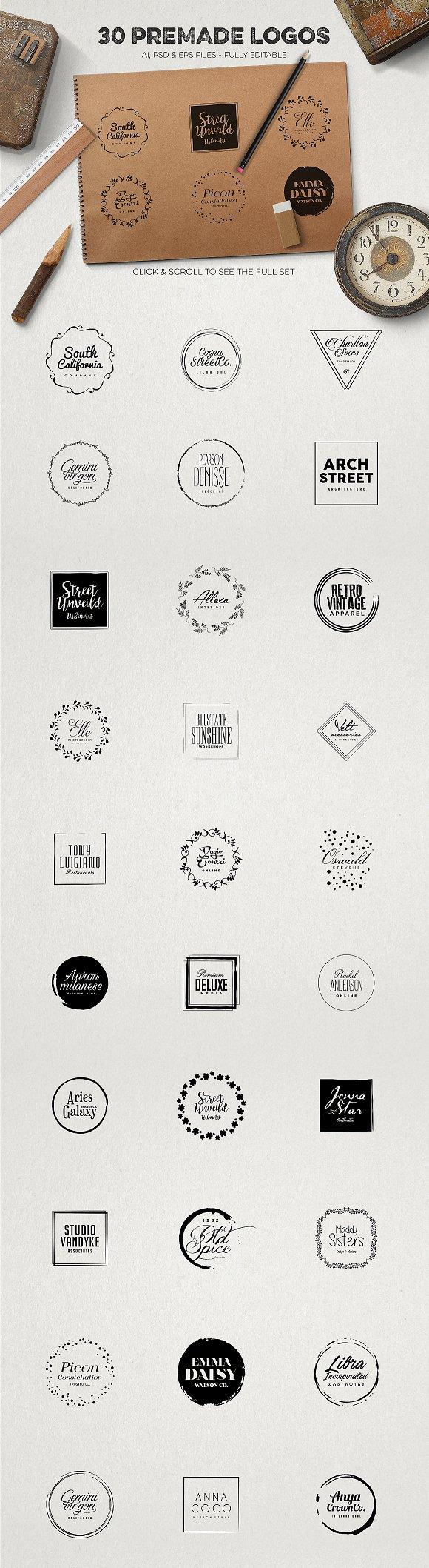 the best logo creation kit bundle logo templates creative market