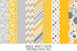 Jackie Yellow Pattern Paper Pack