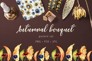 Autumnal bouquet - pattern set