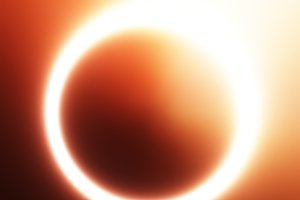Glowing sun eclipse illustration background