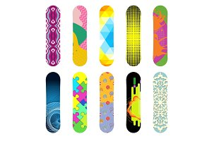 Vector snowboard isolated