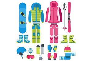 Winter vector equipment set