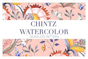 CHINTZ WATERCOLOR PATTERNS!!