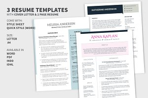Bundle: Cover Letter & 2 Page Resume