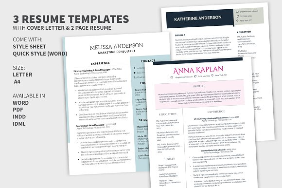 bundle cover letter 2 page resume