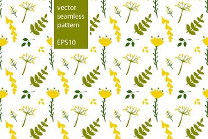 Seamless floral pattern. EPS