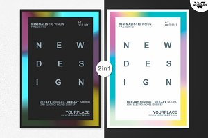 2in1 MINIMAL DESIGN Flyer Template