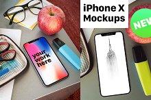 iPhone X Desk Mockup Pack