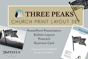 Three Peaks Church Layout Set