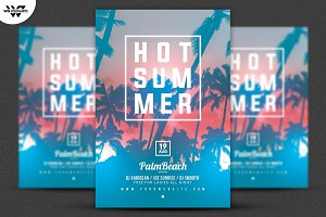 HOT SUMMER PALMS Flyer Template