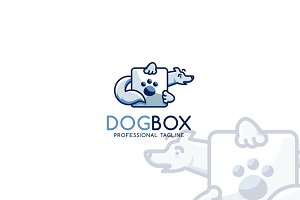 Dog Box Logo Template
