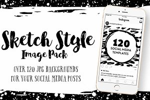 Sketch Style Social Media Image Pack