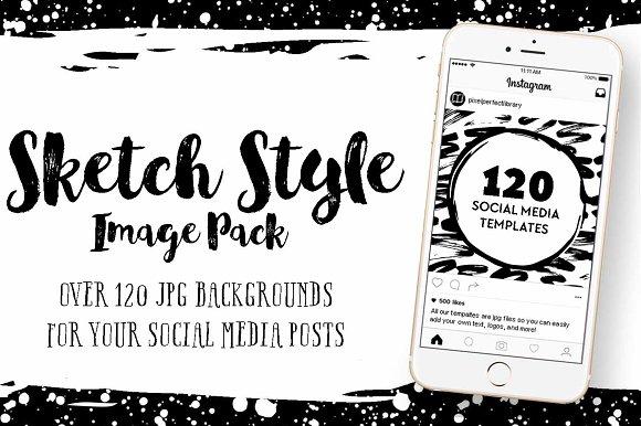 Sketch Style Social Media Image Pack