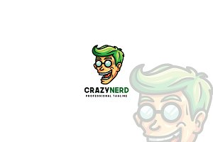 Crazy Nerd Logo Template
