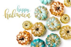 Shiny Halloween Pumpkins